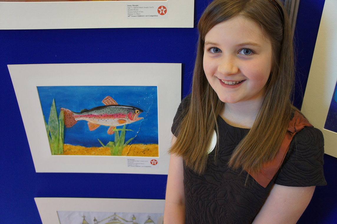 Mia Buckley Special Merit Winner at 60th Texaco Children's Art Competition