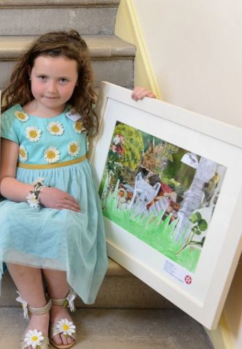 Pippa McIntosh 2nd Prize Winner (Cat E) at 61st Texaco Children's Art Competition